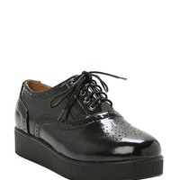 Black Lace-Up Creeper