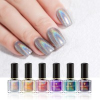 BORN PRETTY 6ml Holographic Nail Polish Flourish Series Nails Art Polish Laser Glitter Nail Lacquer Varnish Nail Art Set