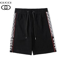 GUCCI New fashion more letter print sports leisure shorts Black