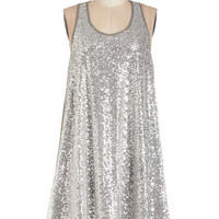 ModCloth Vintage Inspired Mid-length Sleeveless Tent Center of the City Dress