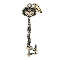disney parks alice in wonderland cheshire cat large key new with pouch
