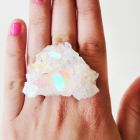ZOE aura crystal ring by brianarose on Etsy
