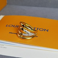 lv louis vuitton woman fashion accessories fine jewelry ring chain necklace earrings 124
