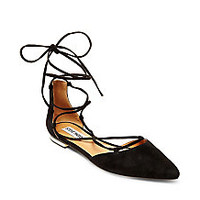 Lace Up D'orsay Flats with Gold Heel | Steve Madden SUNSHINE