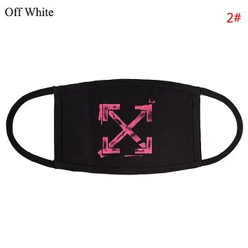 Off White Fashion New Letter Cross Arrow Print Women Men  Mask 2#