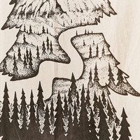 Sam Larson Holiday Tree Tapestry - Urban Outfitters