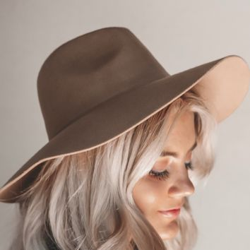 Midwest Best Tan Suede Boho Hat