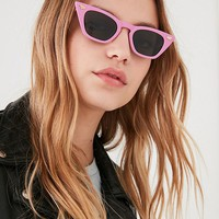 Retro Geo Cat-Eye Sunglasses | Urban Outfitters