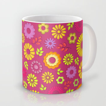 Country flowers in pink Mug by Silvianna