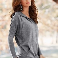 Heather Grey (HG) Cozy Hooded Sweater