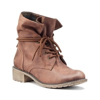 Mudd® Women's Flannel Lace-Up Combat Boots