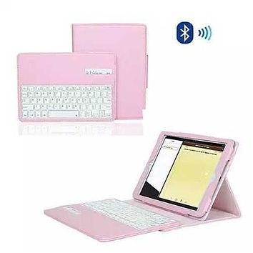 iPad Air 1 & 2 Case with Removable Bluetooth Keyboard - Color: White