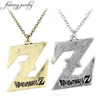 Classic Anime Dragon Ball Necklace 2 Colors DragonBall Z Logo Pendant Necklaces For Men Women Fashion Jewelry Collar Accessories
