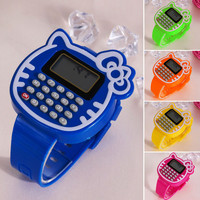 Educational Math Toy Children Silicone Date Multi-function Kids Calculator Wrist Watch Children Toys Learning Education Toy FCI#
