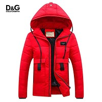 Boys & Men Dolce&Gabbana D&G Fashion Down Cardigan Jacket Coat Hoodie