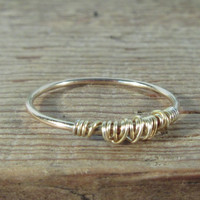 Stacking Ring Tangled Gold with Gold