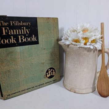 Pillsbury Family Cook Book 5 Ring Binder First Edition ©1963 Complete CookBook for the Modern Family Aged Stained Well Used Mid Century Book