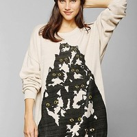 Pretty Snake X UO Crazy Cat Sweater - Urban Outfitters