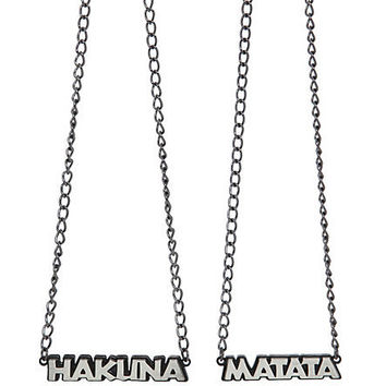 Disney The Lion King Hakuna Matata BFF Necklace 2 Pack   Hot Topic
