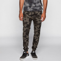 Charles And A Half Mens Twill Jogger Pants Camo Pot  In Sizes