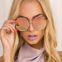 QUAY Kiss And Tell Sunglasses Rose Gold