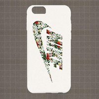 Nike Floral logo iPhone 4/4S, 5/5S, 5C Series Hard Plastic Case