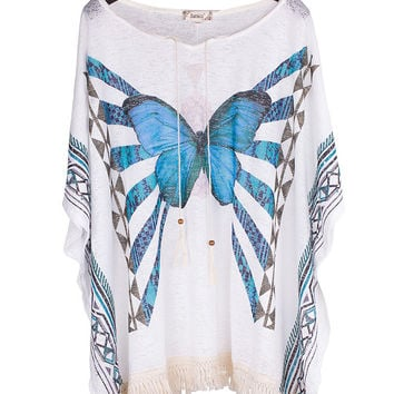 Butterfly Scarf Poncho