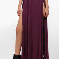 Ecote Double Slit Maxi Skirt