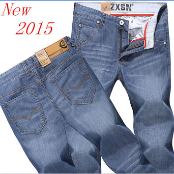 Brand New 2015  Men's Fashion Jeans Hot Jeans For Men Sale Men's Pants Casual Slim Straight Trousers Free Shipping!