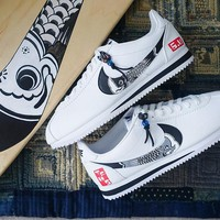 "Simple Union x The Flying Hawk Studio x Nike Cortez ""Koinobori"" Sneaker 807471-460"