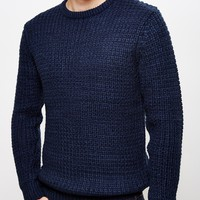The Idle Man Shaker Knit Jumper Navy