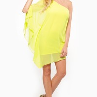 Yellow Green Shear Overlay Boho Dress @ Cicihot sexy dresses,sexy dress,prom dress,summer dress,spring dress,prom gowns,teens dresses,sexy party wear,ball dresses