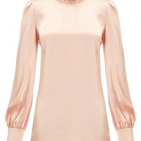 Pale Pink Studded Blouse   Giles   Avenue32