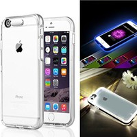 iPhone 6s/6 Case Ultra Slim Case Cover with Transparent TPU Soft Back Case + Silver PC Bumper Frame Case for iPhone 6s/6 4.7 inch