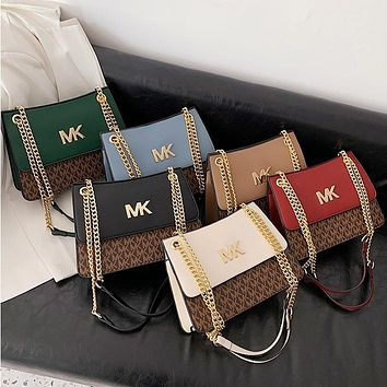 MK fashion casual letter-print large capacity small square bag one shoulder crossbody bag
