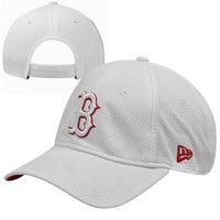 New Era Boston Red Sox Ladies Tech Essential Adjustable Hat - White