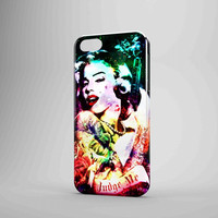 Marilyn Monroe Tattooed Flower With Pistol Gun iPhone 5 Case