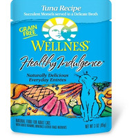 Wellness Healthy Indulgence Grain-Free Tuna Cat Food Pouch 24/3 oz