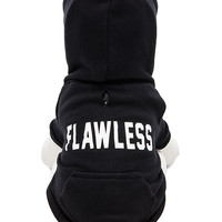 """Private Party """"Flawless"""" Dog Hoodie in Black"""