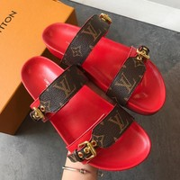 Louis Vuitton Women Fashion Casual Slipper Shoes-1