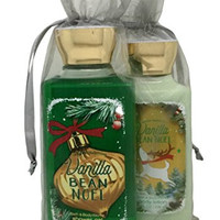 Bath & Body Works Vanilla Bean Noel Gift Set Bundle of Shower Gel and Body Lotion