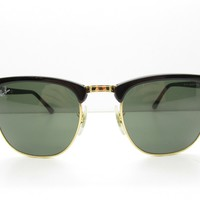 RAY-BAN RB 3016 CLUBMASTER W0366 HORN-RIMMED SUNGLASSES square 49-21-140 98037