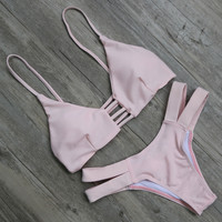 Pink Bikinis Beach Swimsuit For Women