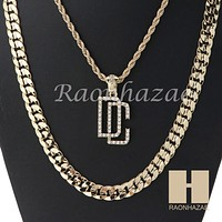 """DREAM CHASERS ROPE CHAIN DIAMOND CUT 30"""" CUBAN LINK CHAIN NECKLACE S09G"""