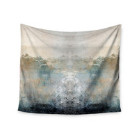 """Pia Schneider """"Heaven II"""" Mixed Mediia Abstract Wall Tapestry"""