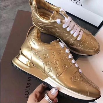 Gold LV Inspired Sneakers