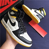 Air Jordan 1 high-top men's wild sports basketball shoes