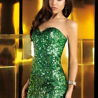 Alyce 4360 Sparkly Emerald Dress