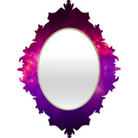 Caleb Troy Painted Clouds Vapors I Baroque Mirror