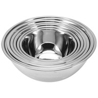 Flat Base Stainless Steel Bowls Mixing Salad Bowl Mirror Finish Prep DIY Cake Bread Salad Mixer Kitchen Cooking Tools